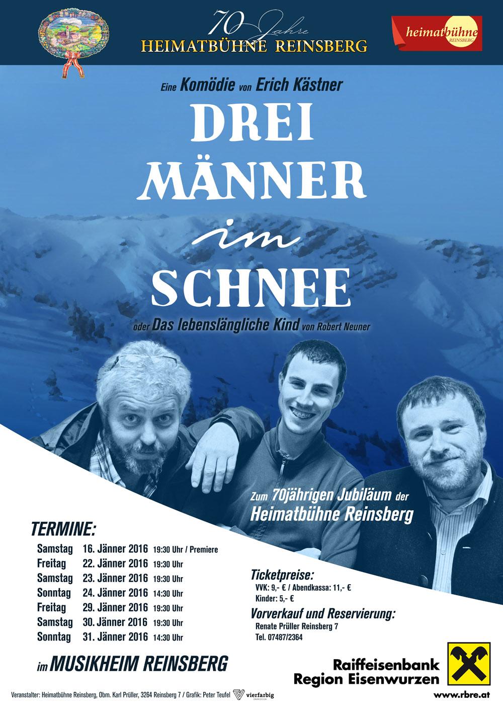Drei Männer Im Schnee 2016 Heimatbühne Reinsberg